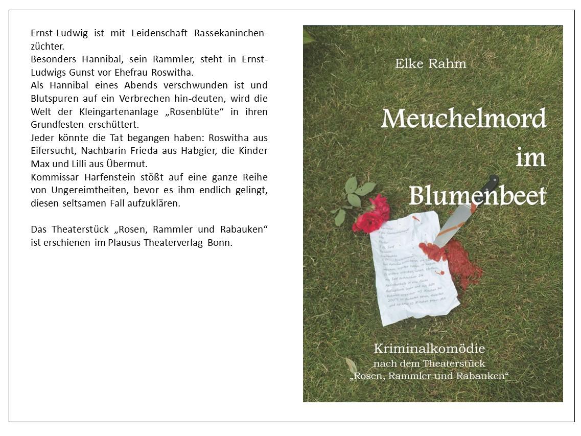 Plakat Meuchelmord mit Klappentext